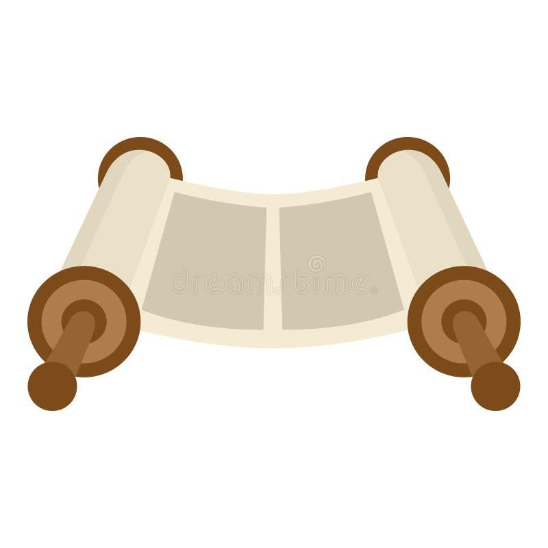 Symbol för Torah snirkellägenhet som isoleras på vit royaltyfri illustrationer