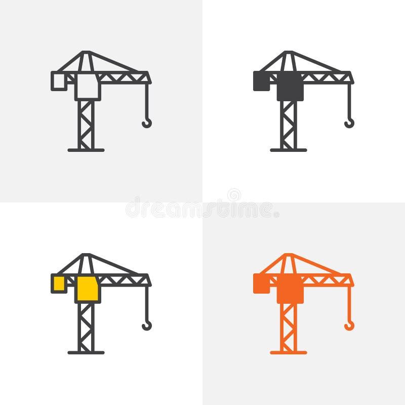 Symbol för tornkran vektor illustrationer
