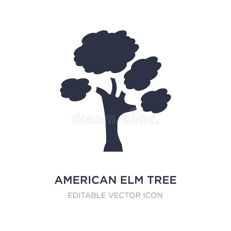 symbol för träd för amerikansk alm på vit bakgrund Enkel beståndsdelillustration från naturbegrepp vektor illustrationer