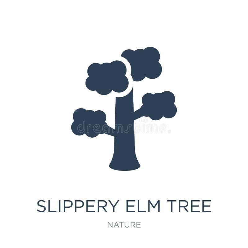 symbol för träd för hal alm i moderiktig designstil symbol för träd för hal alm som isoleras på vit bakgrund symbol för vektor fö vektor illustrationer
