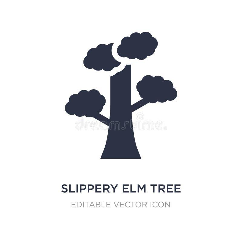 symbol för träd för hal alm på vit bakgrund Enkel beståndsdelillustration från naturbegrepp stock illustrationer