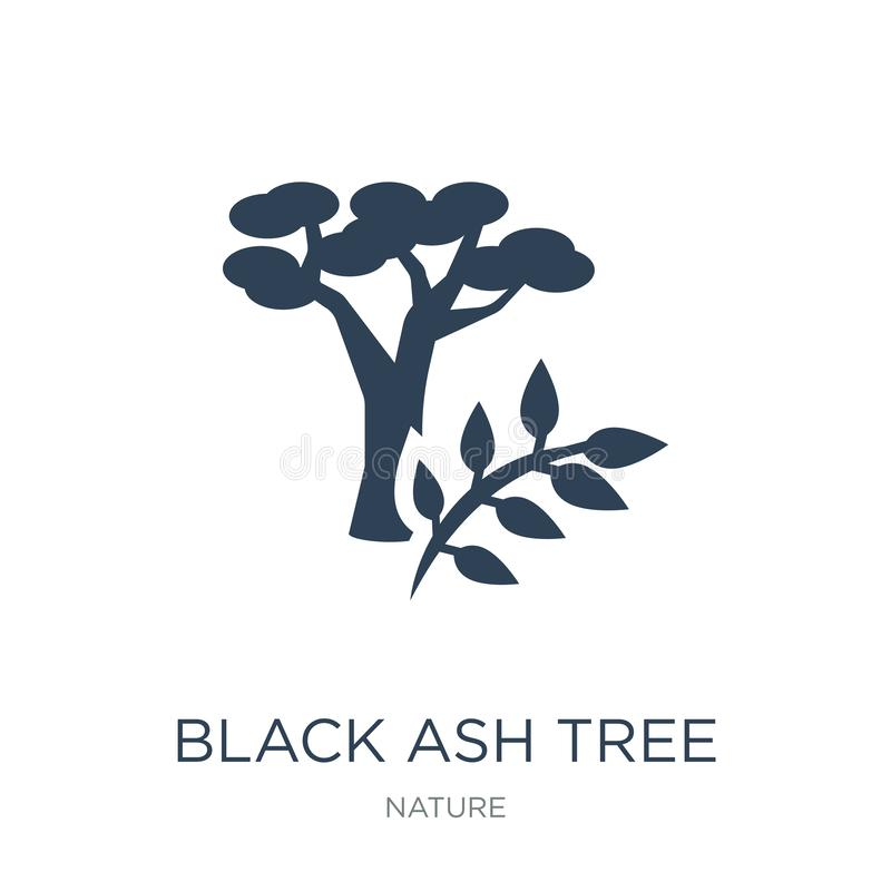 symbol för träd för svart aska i moderiktig designstil symbol för träd för svart aska som isoleras på vit bakgrund enkel symbol f royaltyfri illustrationer