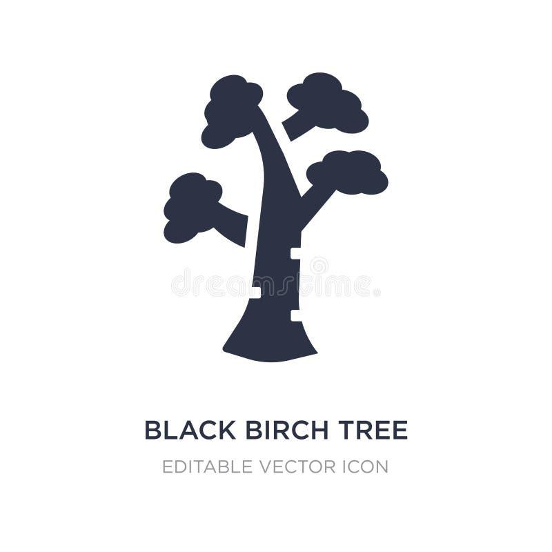 symbol för träd för svart björk på vit bakgrund Enkel beståndsdelillustration från naturbegrepp vektor illustrationer