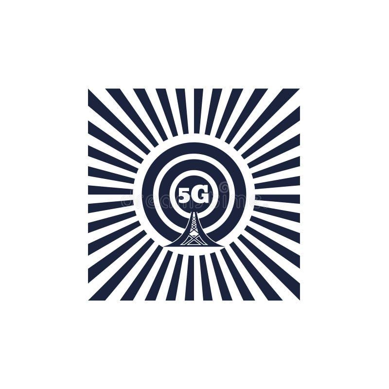 Symbol för trådlöst nätverk för Wi Fi stock illustrationer