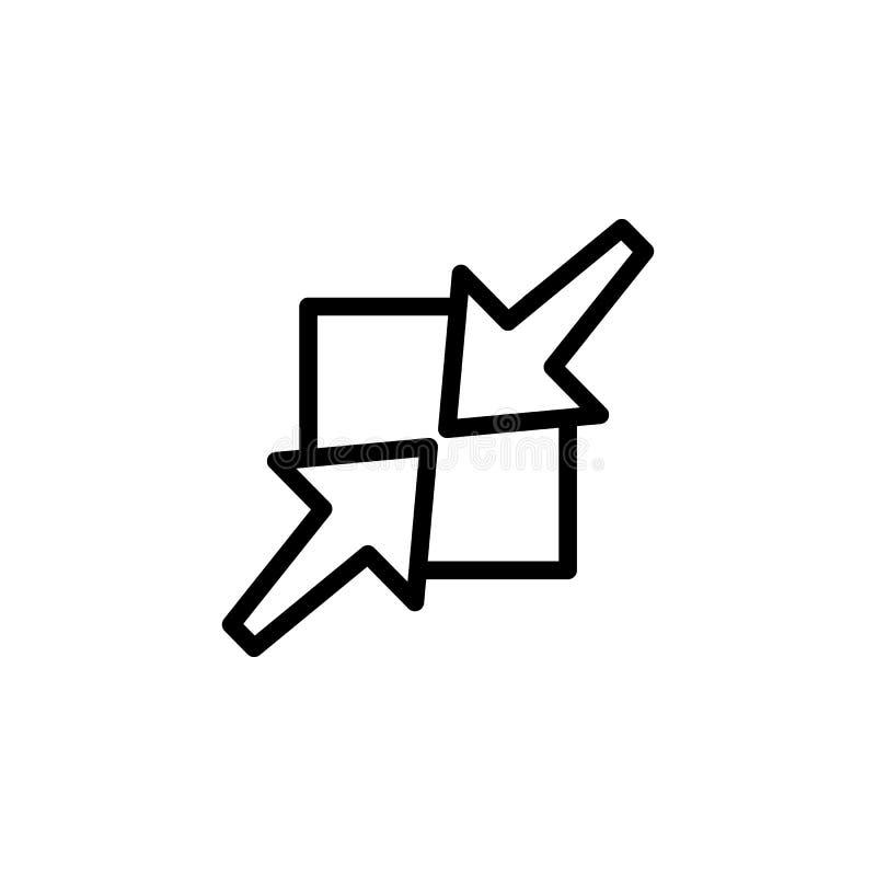 symbol för två rörande pilar Beståndsdel av minimalistic symboler för mobila begrepps- och rengöringsdukapps Tunn linje symbol fö stock illustrationer