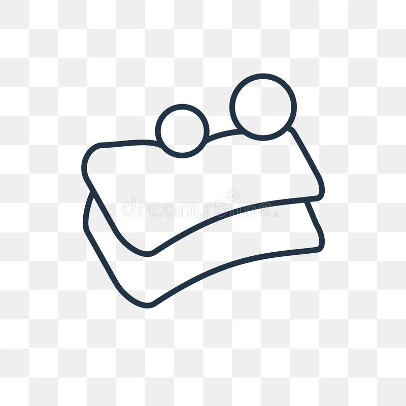 Symbol för tvålstångvektor som isoleras på genomskinlig bakgrund som är linjär royaltyfri illustrationer