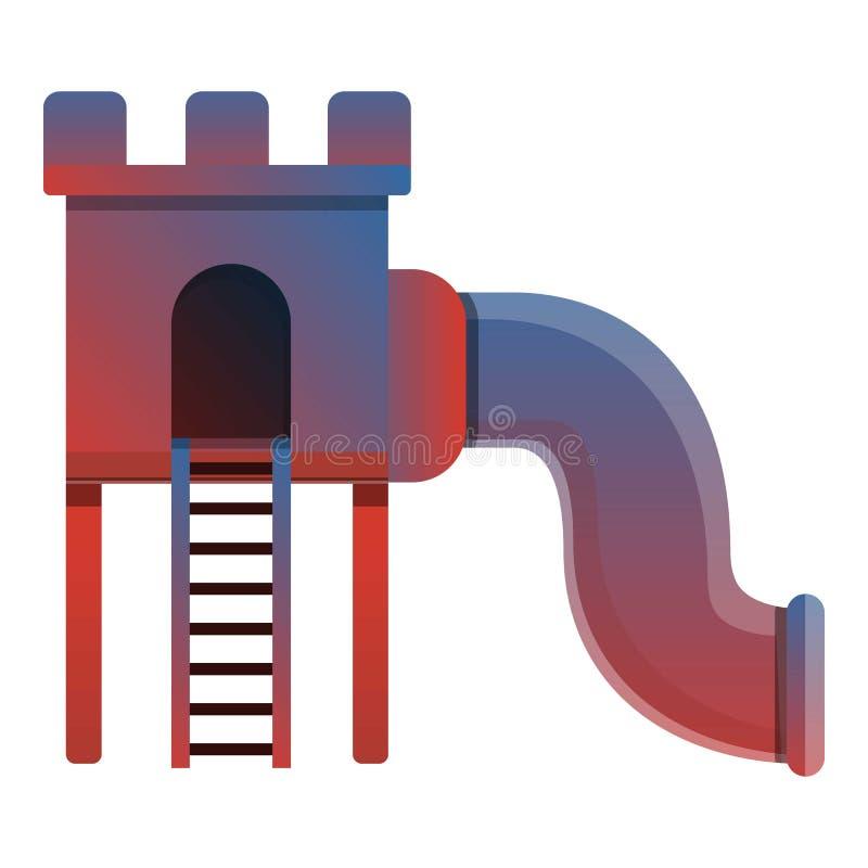 Symbol för ungeglidbanatunnel, tecknad filmstil stock illustrationer