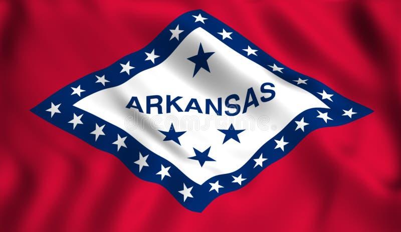 Symbol för USA för flaggaarkansas stat statligt royaltyfri illustrationer
