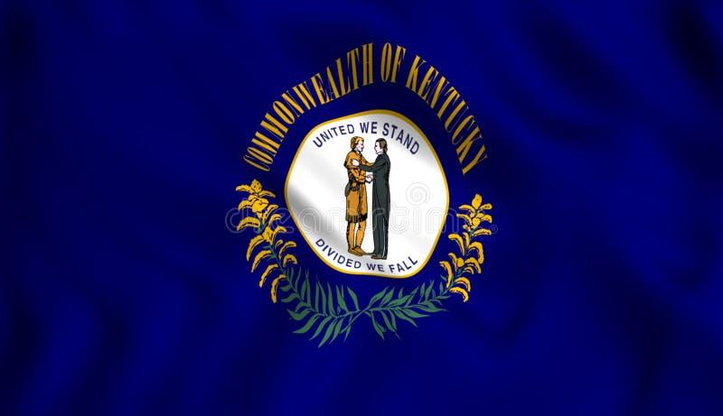 Symbol för USA för flaggakentucky stat statligt stock illustrationer