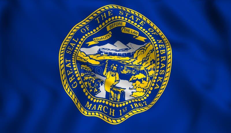 Symbol för USA för flagganebraska stat statligt royaltyfri illustrationer