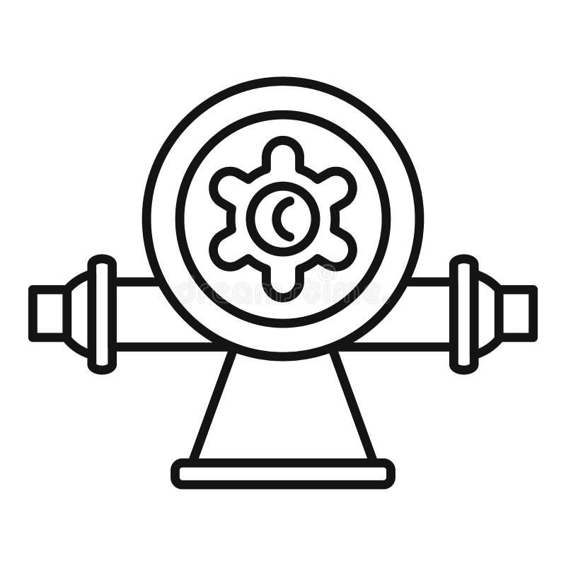 Symbol för utmatare för bevattningvatten, översiktsstil stock illustrationer