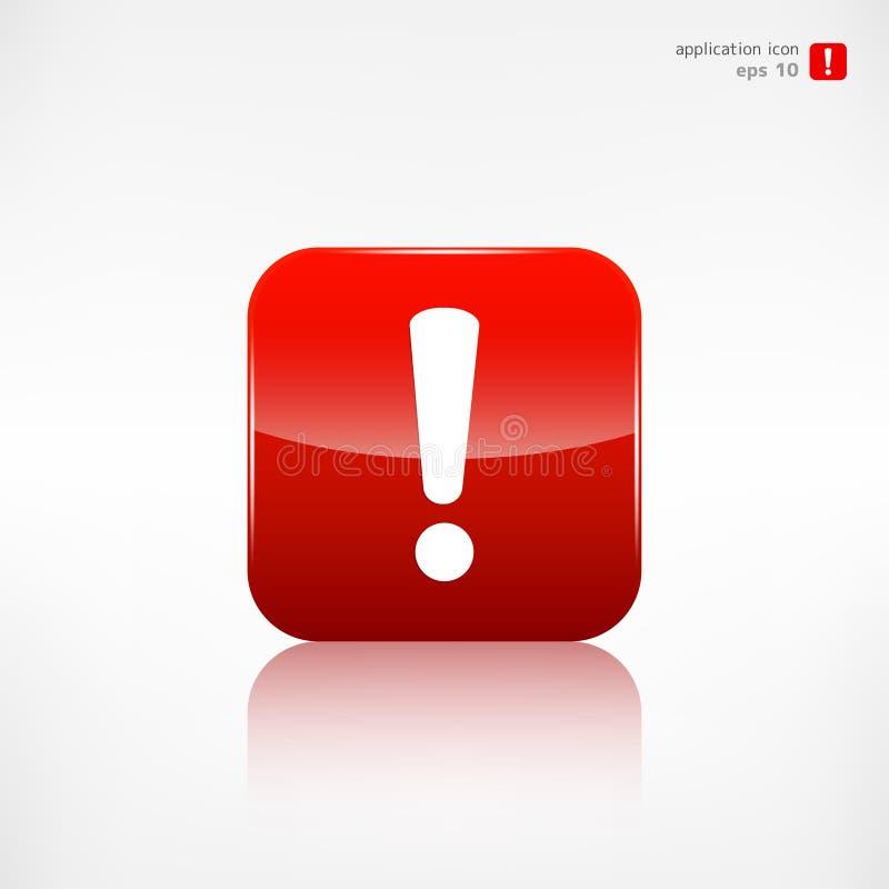Symbol för utropfararengöringsduk applikationknapp royaltyfri illustrationer