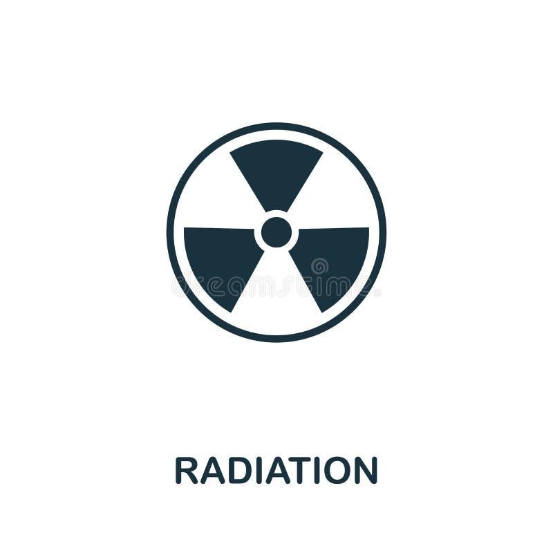Symbol för utstrålningsvektorsymbol Idérikt tecken från biotekniksymbolssamling Fylld plan utstrålningssymbol för dator stock illustrationer