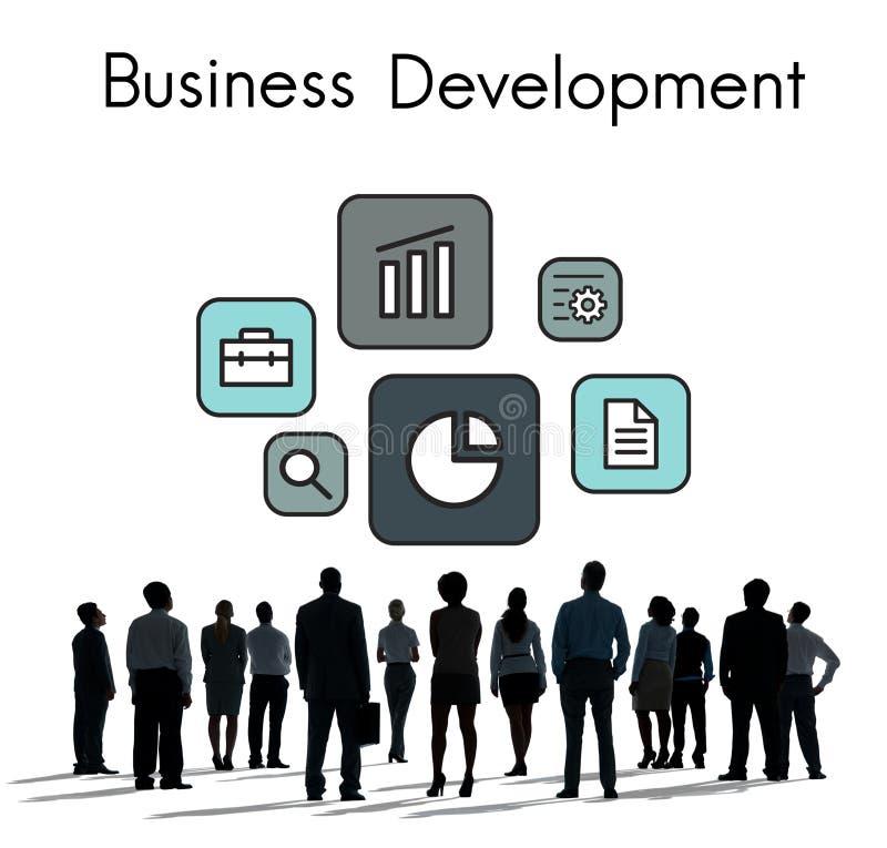 Symbol för utvidgning för utvecklingsinvesteringmarknad arkivfoton