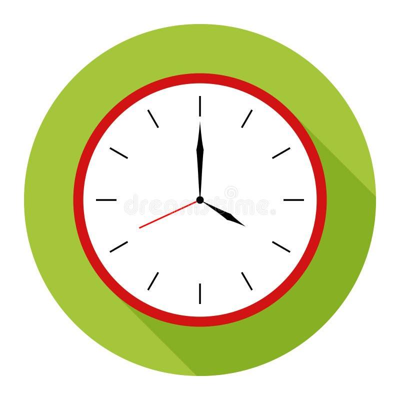 Symbol för väggklocka på grön bakgrund för något tillfälle vektor illustrationer