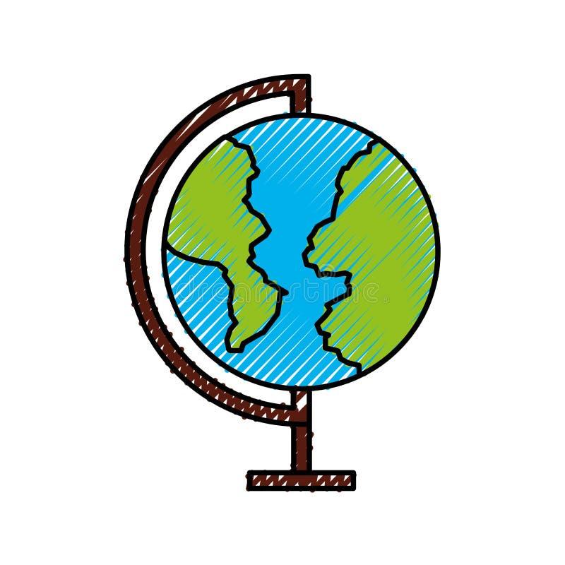 Symbol för världsplanetskola royaltyfri illustrationer