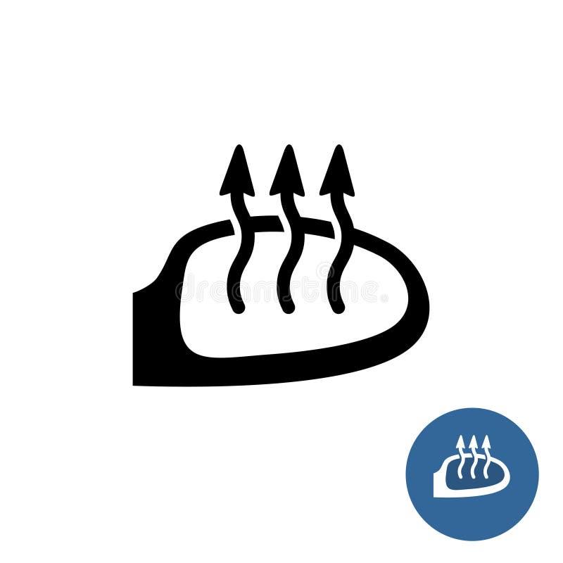 Symbol för värme för bilspegel vektor illustrationer