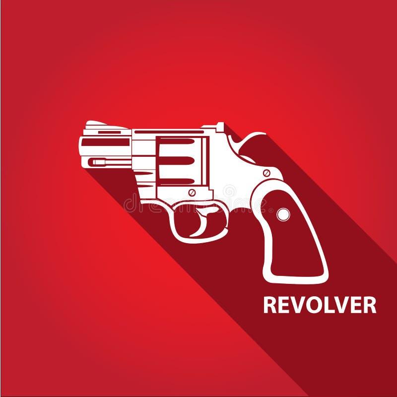 Symbol för vapen för vektortappningpistol stock illustrationer