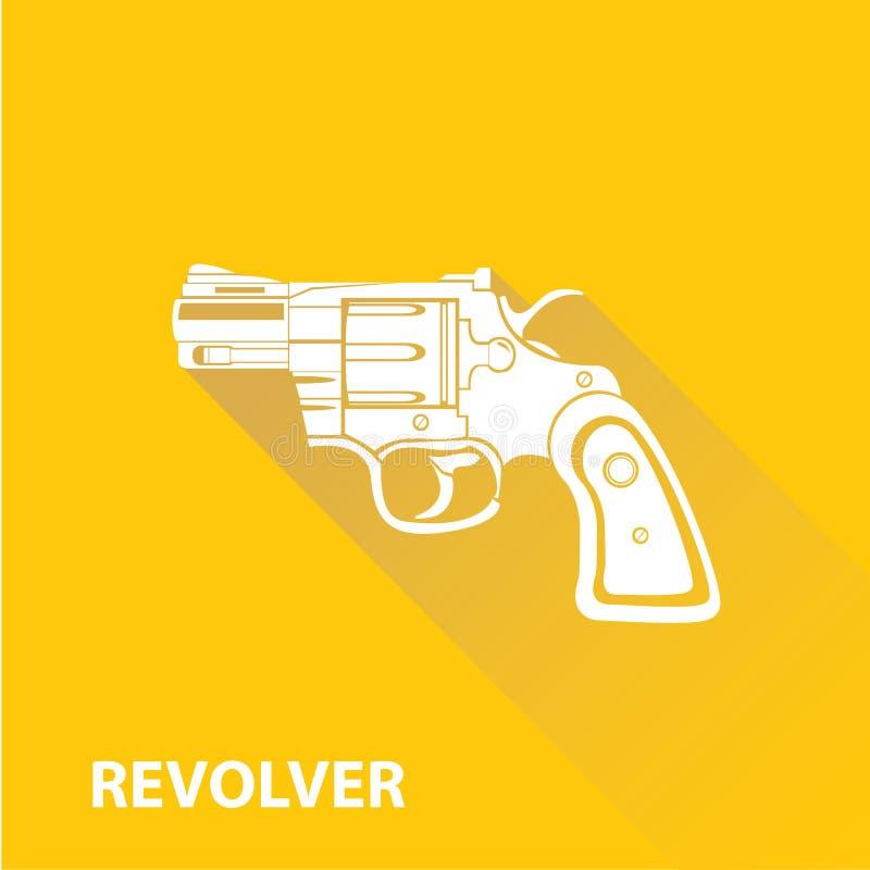 Symbol för vapen för vektortappningpistol på apelsinen royaltyfri illustrationer