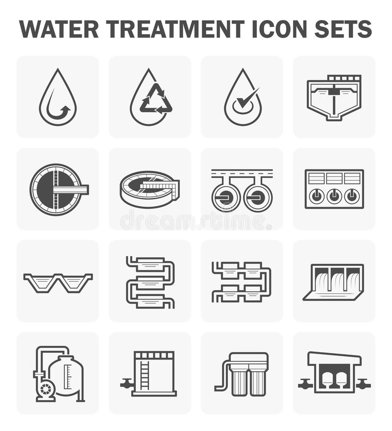 Symbol för vattenbehandling vektor illustrationer