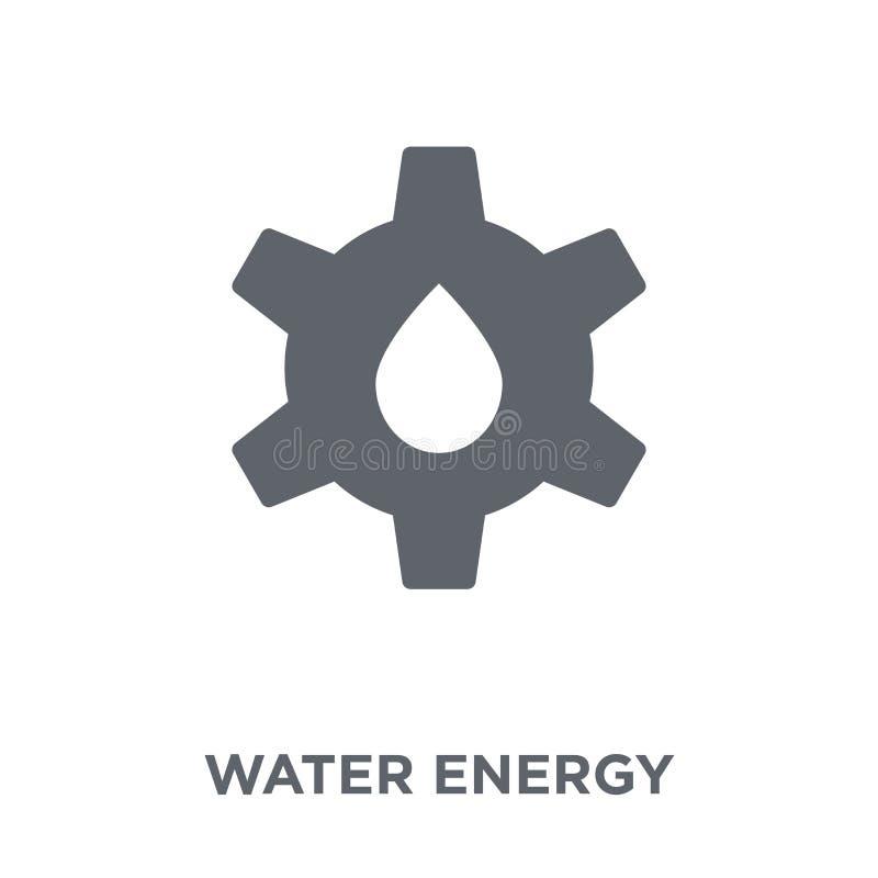 Symbol för vattenenergi från ekologisamling vektor illustrationer