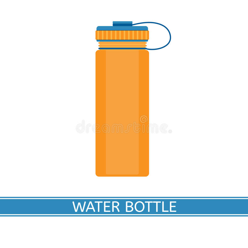 Symbol för vattenflaska stock illustrationer