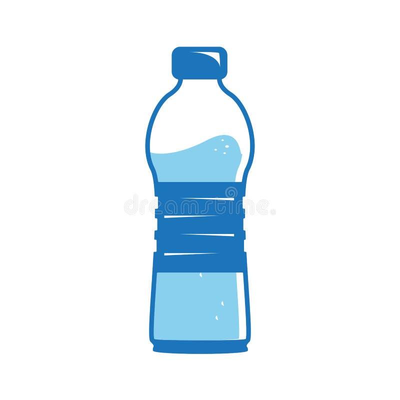 Symbol för vattenflaska royaltyfri illustrationer
