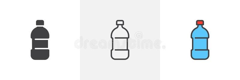 Symbol för vattenflaska vektor illustrationer