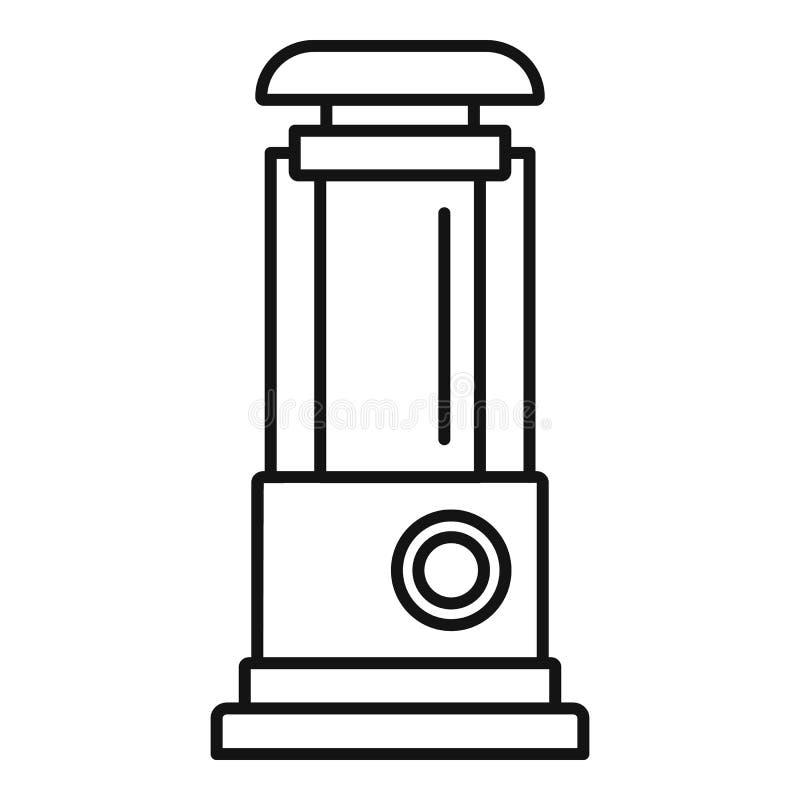 Symbol för vattenpump, översiktsstil vektor illustrationer