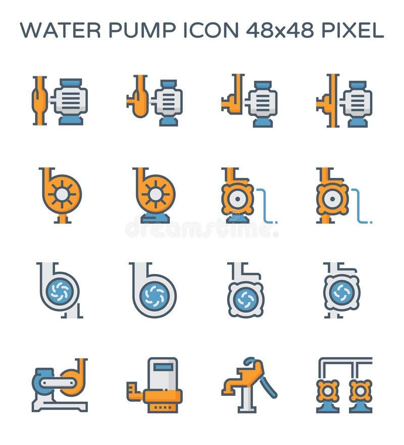 Symbol för vattenpump royaltyfri illustrationer