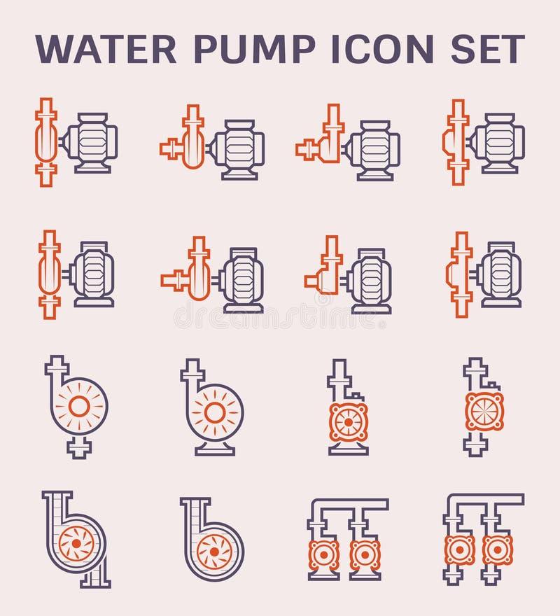 Symbol för vattenpump vektor illustrationer