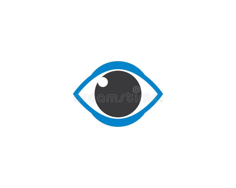 Symbol för vektor för ögonlogomall vektor illustrationer