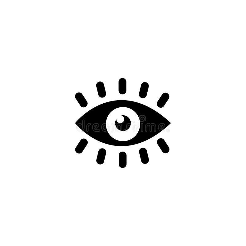 Symbol för vektor för ögonvisionlägenhet vektor illustrationer
