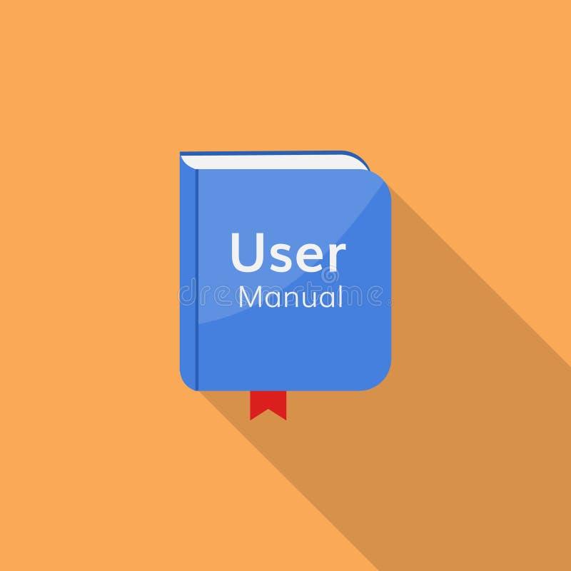 Symbol för vektor för användarehandbok manuell stock illustrationer