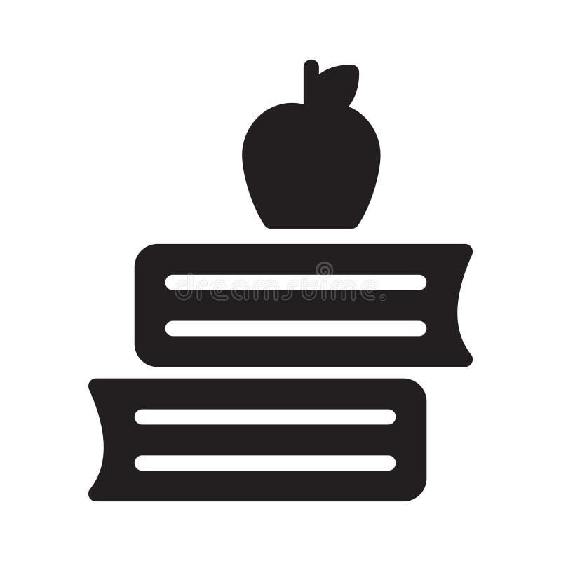 Symbol för vektor för Apple bokskåra plan stock illustrationer