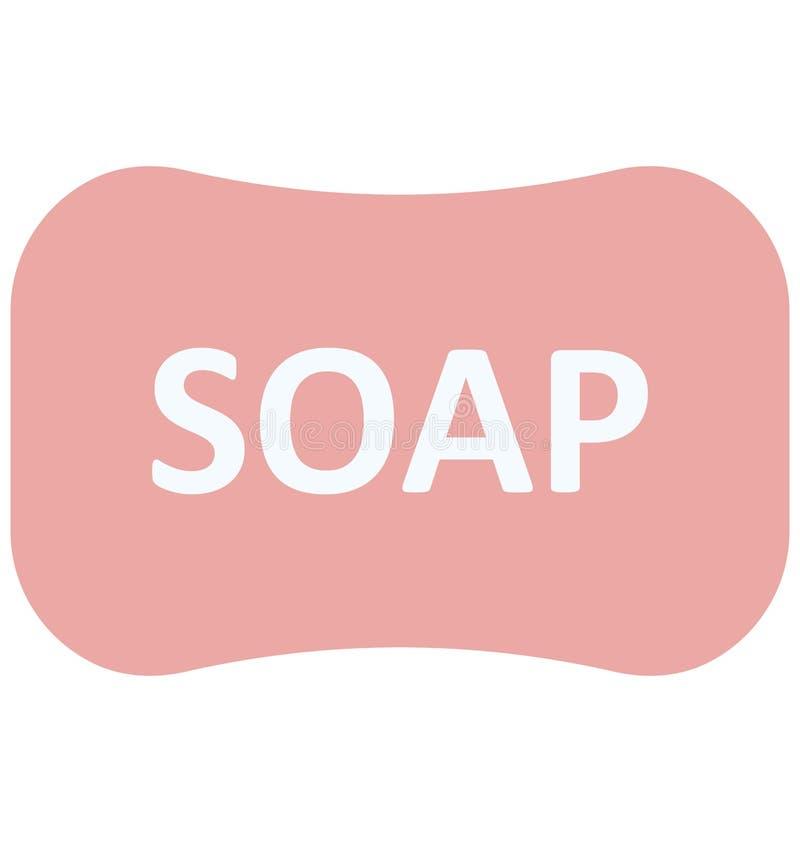 Symbol för vektor för badtvål isolerad stock illustrationer