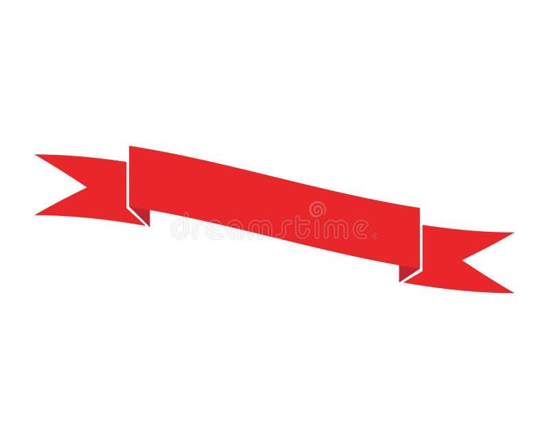 Symbol för vektor för bandlogomall vektor illustrationer