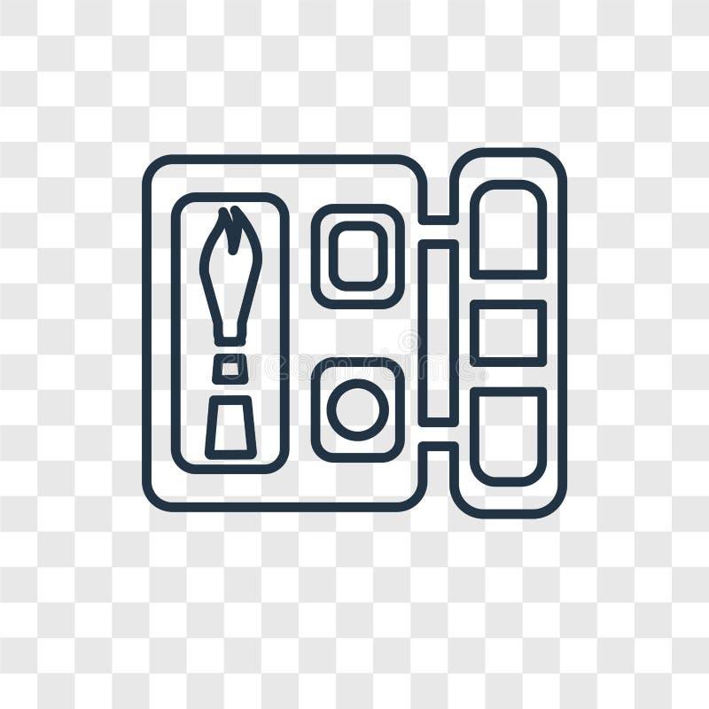 Symbol för vektor för begrepp för ögonskugga som linjär isoleras på genomskinliga lodisar royaltyfri illustrationer