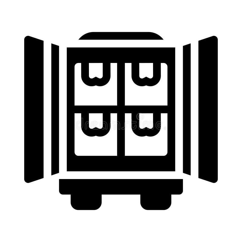 Symbol för vektor för behållareskåra plan stock illustrationer
