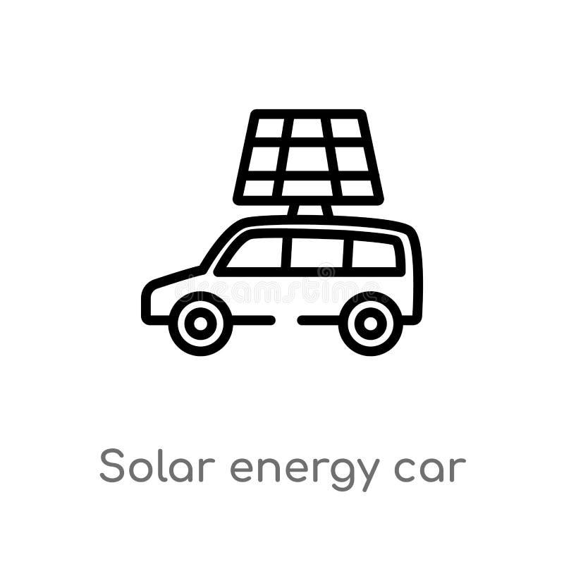 symbol f?r vektor f?r bil f?r sol- energi f?r ?versikt isolerad svart enkel linje best?ndsdelillustration fr?n konstgjort intelle stock illustrationer