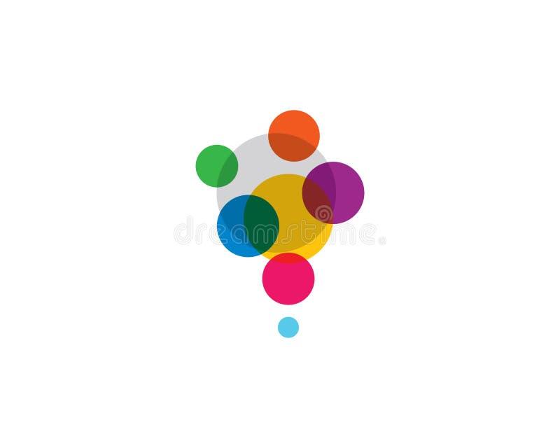 Symbol för vektor för bubblalogomall royaltyfri illustrationer