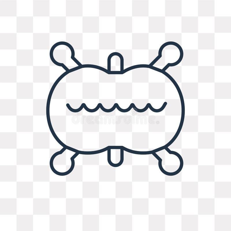 Symbol för vektor för celluppdelning som isoleras på genomskinlig bakgrund, li stock illustrationer