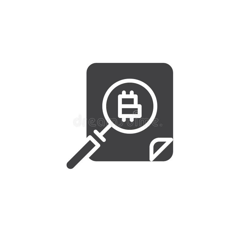 Symbol för vektor för Cryptocurrency pengarsökande royaltyfri illustrationer
