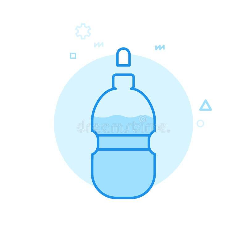 Symbol för vektor för cykel- eller cykelvattenflaska plan, symbol, Pictogram, tecken Blå monokrom design Redigerbar slaglängd stock illustrationer