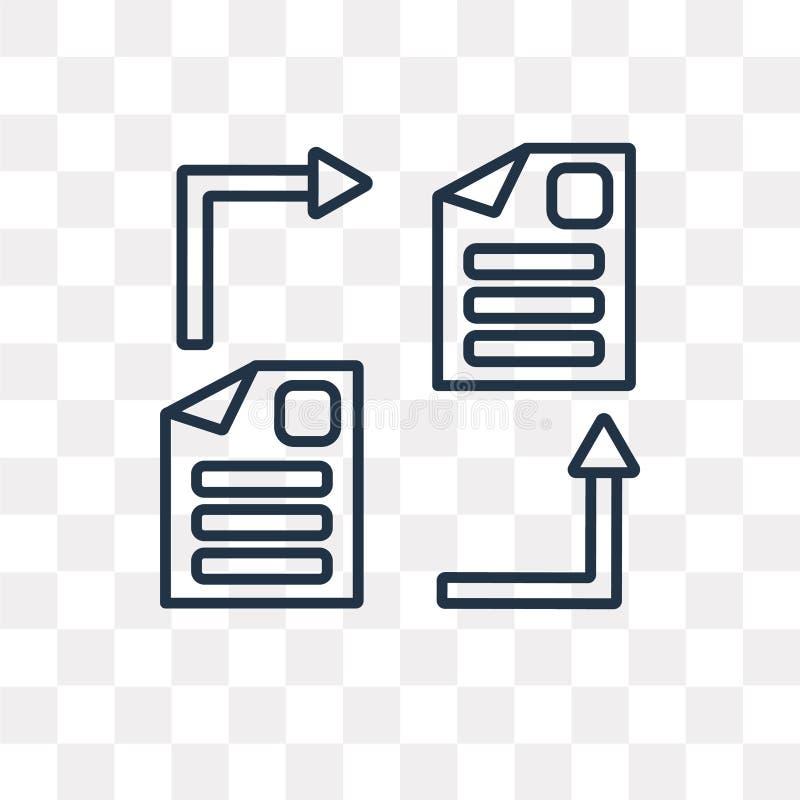 Symbol för vektor för dela för mapp som isoleras på genomskinlig bakgrund, lin vektor illustrationer