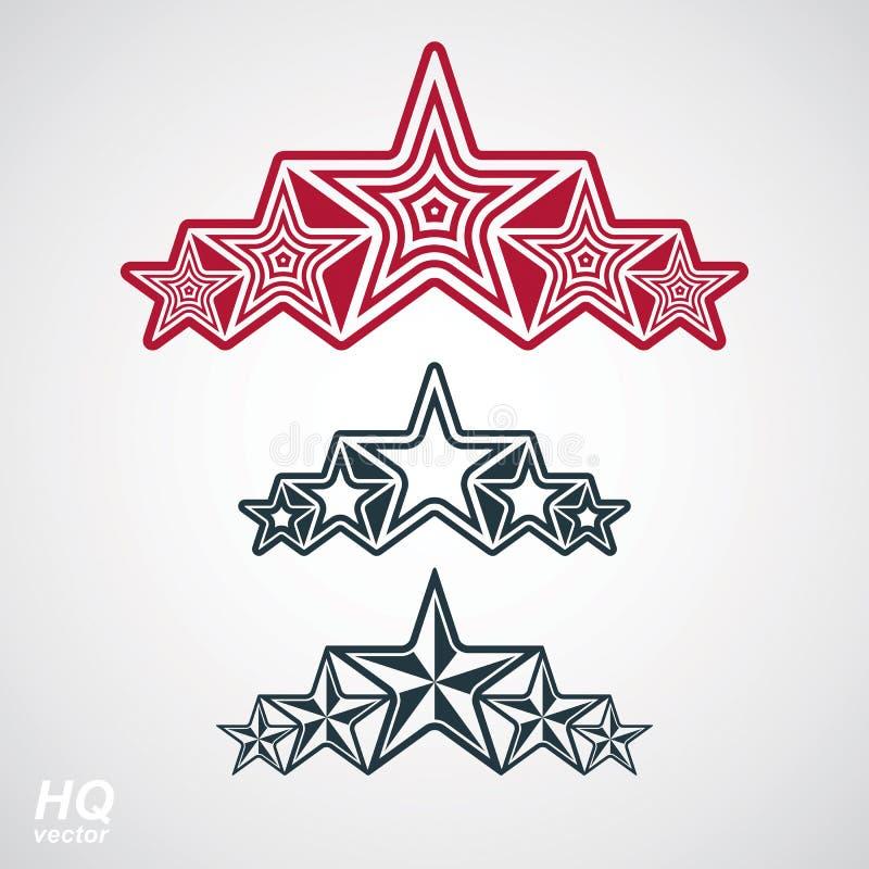 Symbol för vektor eps8union Festlig designbeståndsdel med stjärnor, deco vektor illustrationer