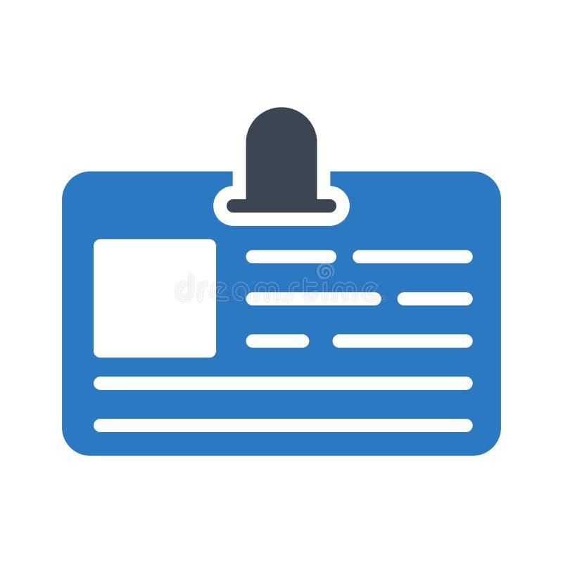 Symbol för vektor för färg för ID-emblemskåra plan royaltyfri illustrationer