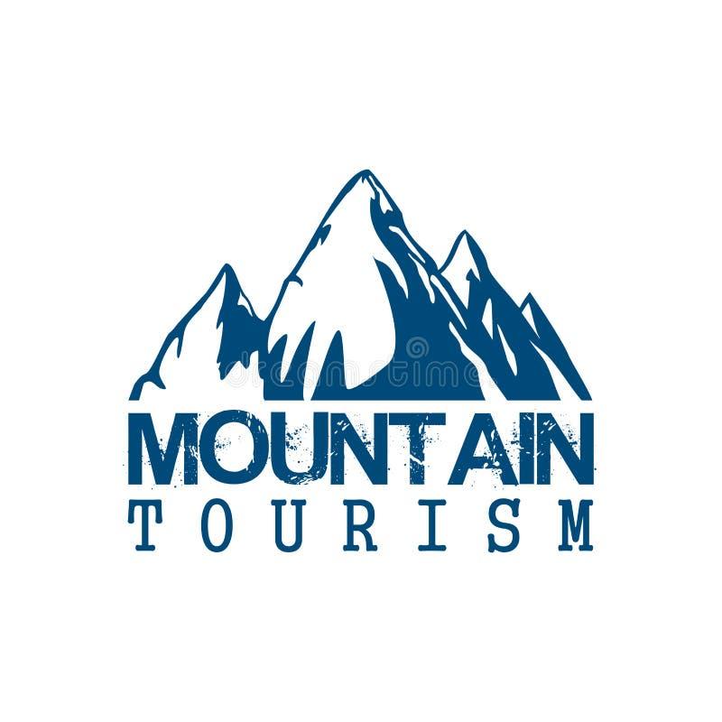 Symbol för vektor för bergturismsport vektor illustrationer