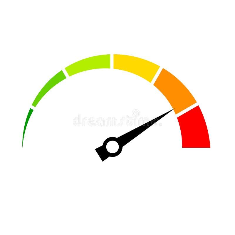 Symbol för vektor för hastighetsmeter vektor illustrationer