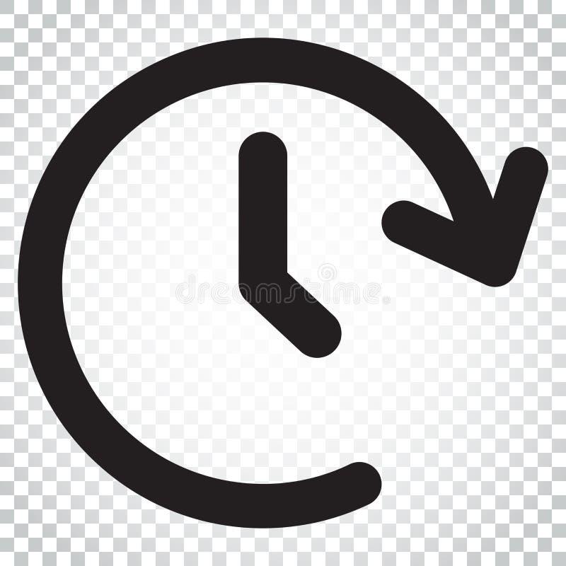 Symbol för vektor för klockatid Tidmätare 24 timmar teckenillustration Busine royaltyfri illustrationer